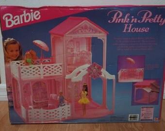 Barbie Doll House Pink 'n Pretty House Mattel 1995 Rare