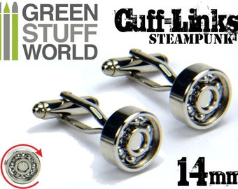 Steampunk CUFFLINKS - Bearing design with swivel head