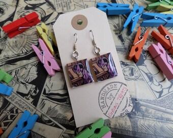 Hawkeye Scrabble earrings