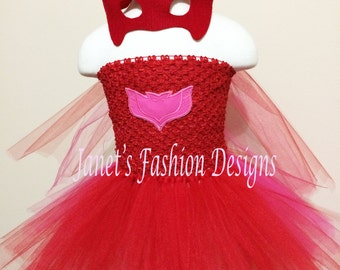 PJ Masks Tutu Dress - PJ Masks Inspired Tutu Dress - Amaya Tutu Dress  - Photo Prop - Fashion Tutu Dress - Halloween Costume