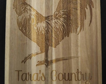 Cutting Board, Country Style Rooster