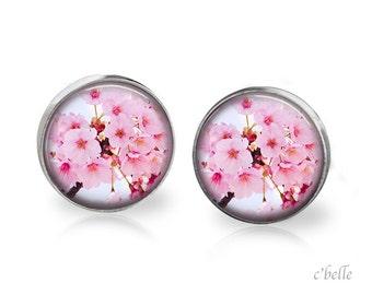 Earrings flowers - cherry blossom