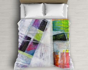 Bohemian Duvet Cover, Colorful Bedding, Abstract Duvet Cover, Duvet Cover Queen, Abstract Art