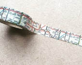 London Tube Washi Tape, Subway Map Washi Tape, Planner Washi, Planner Tape, Planner Supplies, Scrapbook Supplies (10M Roll)