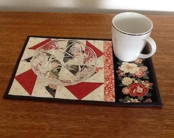 DUTCHMANS PUZZLE mug rug, snack mat, placemat, candle mat