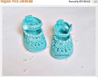 SWEET BABY Baby blue shoes Crochet baby shoes Baby sandals Newborn baby shoes  Crochet Baby girls Made to order