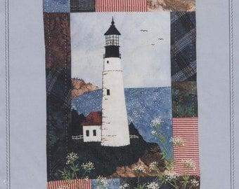 "Miniature  Quilt Pattern The Lighthouse, Seaside Memories 8 1/2"" x 12"""