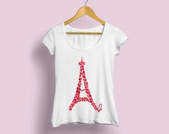 Paris Tshirt, Paris tee, Eiffel Tower shirt, Eiffel Tower tee, Paris Fashion Shirt , Printed Shirt, Personalized Shirt, Paris womens tee