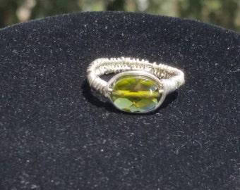 Swarovski Wire Wrapped Ring Size  7