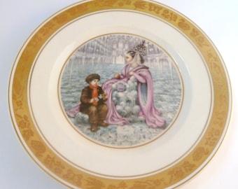 Vintage Royal Copenhagen Hans Christian Andersen The Snow Queen Fairy Tale Plate.