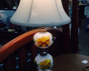 Milk Glass Table Lamp