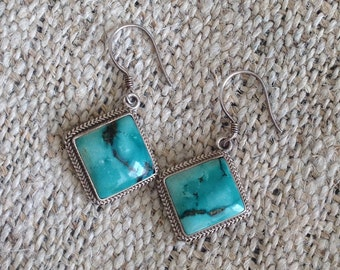 925 Sterling Silver Turquoise Earring