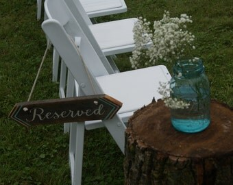 Rustic Reserved Signs - Set of 2