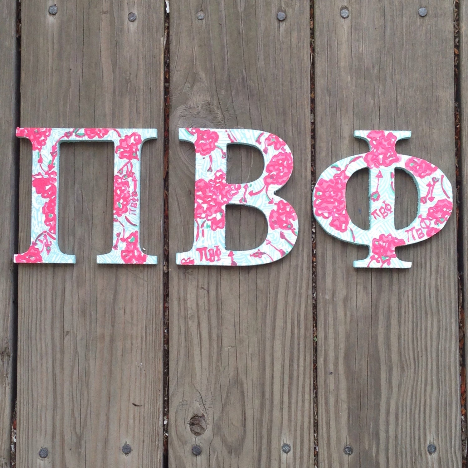 pi beta phi wooden letters lilly pulitzer letters sorority letters pi phi letters lilly letters lilly pulitzer sorority print