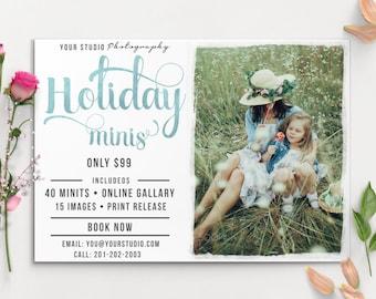 Holiday Mini Session Template - Photography Marketing Board -Holidau  MIN007