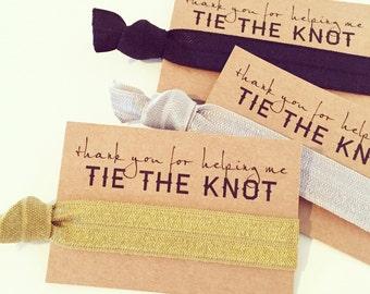 YOU DESIGN   Hair Tie Favors, Bridal Shower Hair Tie Favor, Bridesmaid Thank You Gift Hair Tie Favor, Bridesmaid Gift, Wedding Bridal Shower