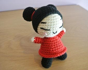 Crochet Pucca Amigurumi  - Handmade Crochet Amigurumi - Pucca - Pucca Crochet - Amigurumi Pucca - Crochet Pucca