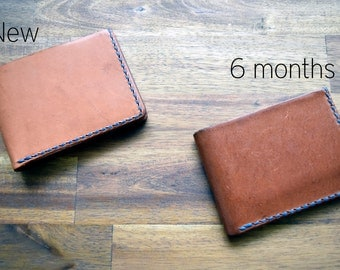 Limited Run - A Slim Kangaroo Leather Wallet With Under Pockets - Malt Whiskey Colour