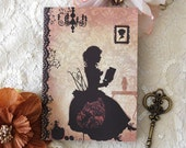 Notebook - Illustrated notebook - Romantic - Reading - Book - Victorian - Sunday Afternoon