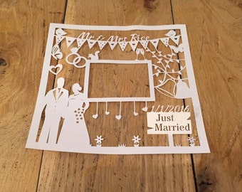 Special Couple Wedding Papercut Template