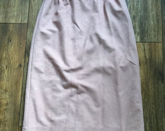 Vintage Mauve High Waist Pencil Skirt