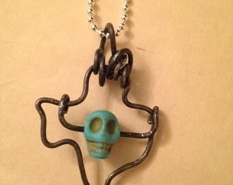Turquoise Skull Texas