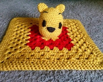 Inspired Winnie the Pooh security blanket/lovey