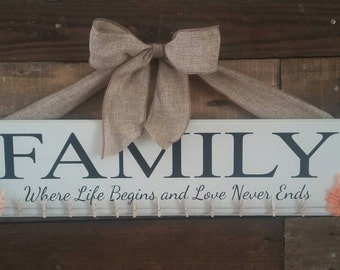 FAMILY, Where Life Begins and Love Never Ends Photo Holder