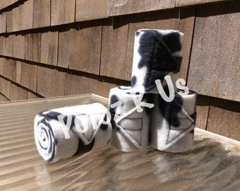 MINI SIZED Cow Print polos (set of 4)