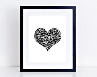 Love Language Print