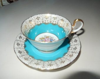 ENGLAND ANSLEY TEACUP and Saucer Set