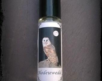 Blodeuwedd perfume oil, Welsh mythology, owls, flowers, fantasy perfume, 10ml