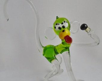 """Handmade Art Glass Figurine """"Ape"""" 16"""