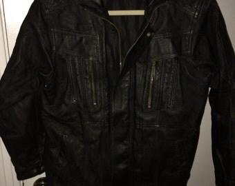 Medium leather cougar riding jacket