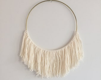 White Cotton Hoop Dreamcatcher