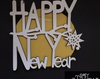 Happy New Year Silicone Mold