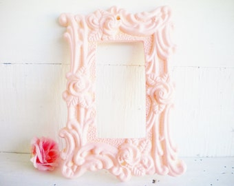 Shabby Chic Pink Rocker Switch Cover/1 Way GFI Light Switch Cover, Poly Rosin Finish/Switch Plate With Roses/Price For 1