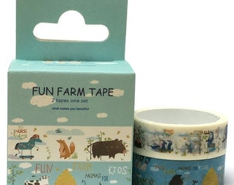 Fun Farm Washi Tape (5m) 2pc Set SM322323