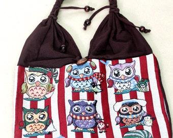 Shopping bag - owl - 4169