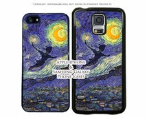 Disney Peter Pan Flying The Vincent Van Gogh Starry Night Painting Case For All Apple & Samsung Devices Phone Case Cover