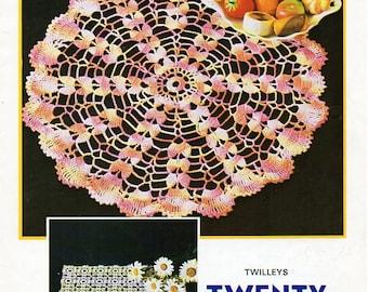Crochet Doily pattern Crochet Pattern PDF crochet motif mats crochet square mat traycloth thread Crochet Cotton PDF instant download