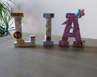 Letters scrapbooking decoration