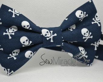 Skull bow tie - Men's bow tie - Child bow tie - Baby bow tie - Pirate bow tie - Dressing up - Birthday - Halloween - Scull - Crossbone