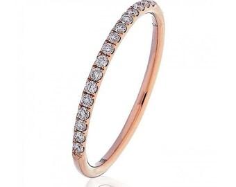 Half Eternity Diamond Ring 0.15ct 18K Rose Gold 1.5mm