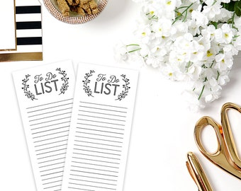 """Notepad with Magnet on White Chipboard Backer, 25 Sheets, 3.5""""x8"""""""