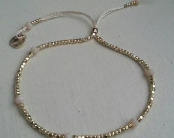 Handmade Beaded Thread Bracelet