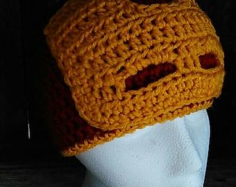 Crochet iron man hat, crochet iron man beanie