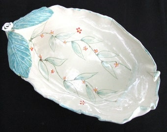 bird bath, ceramic bird bath, garden ornament, artistic bird bath, ceramic yard art, pottery water dish, garden art,REDUCED price, decor