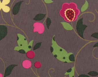 Rare Moda Rooftop Garden Floral Berries Grey and Pink
