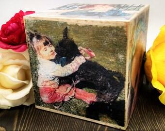Distressed Photo Cube